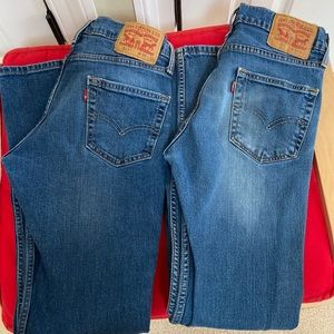 2 pairs of Levi jeans 511 30x32 great condition